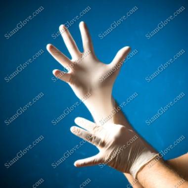 ถุงมือแพทย์ชนิดไม่มีแป้ง